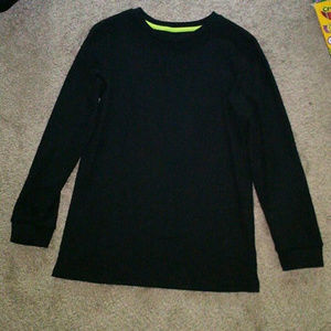 Plain Black Thermo Knit Sweater NWT